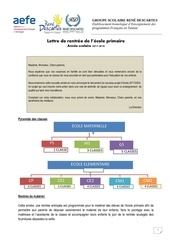 lettre de rentree definitive primaire 1
