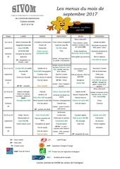 menu septembre 2017