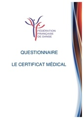 Fichier PDF certificat medical questionnaire