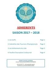 dossier adherents 2018