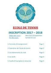 dossier ecole de tennis 2018
