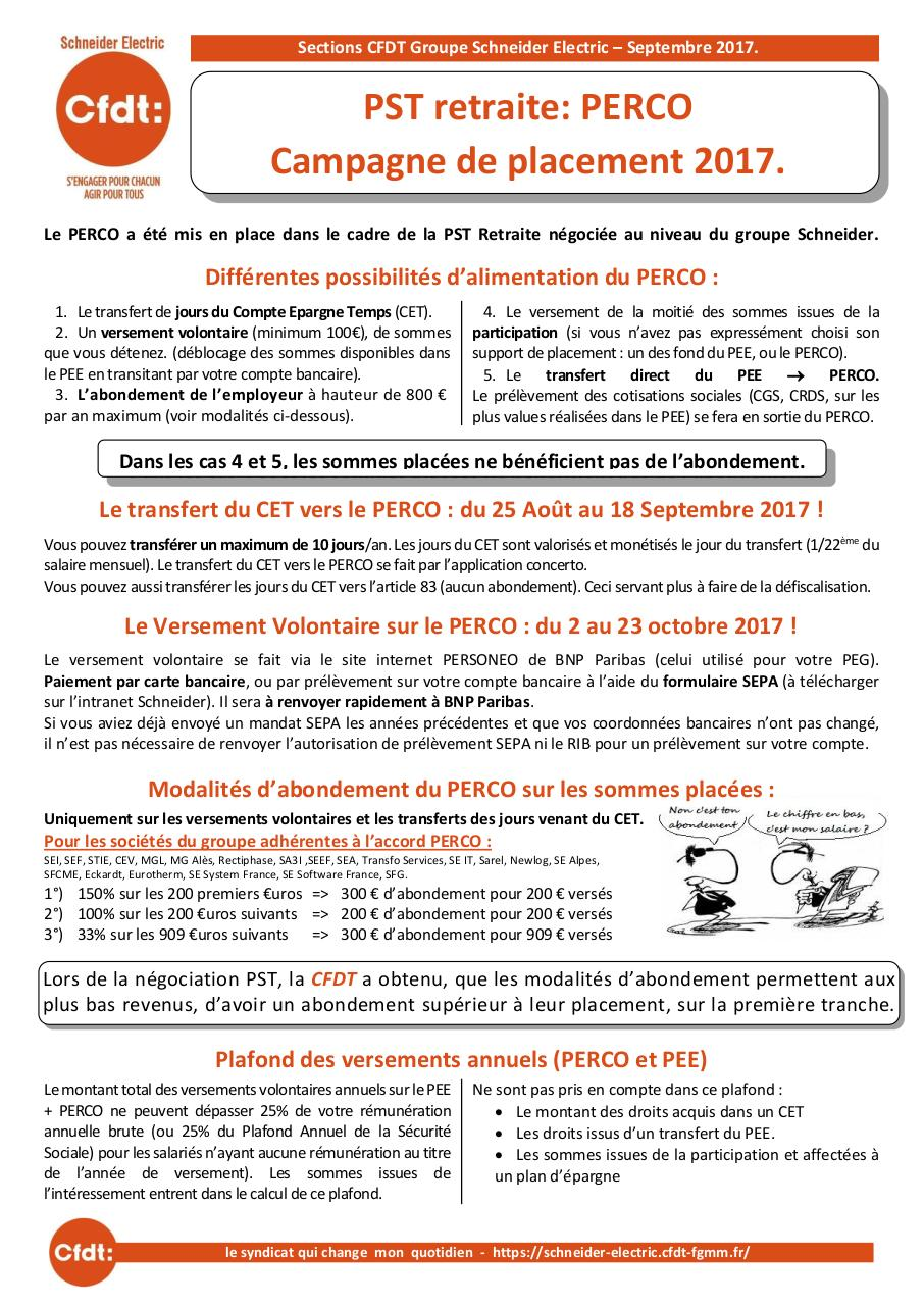 Tract CFDT PST retraite Perco 2017 VF.pdf - page 1/2
