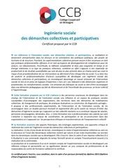 certificat ingenierie sociale 2017