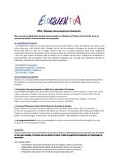 Fichier PDF manager des programmes eloquentia