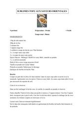 recette mc cormick sublime tofu aux saveurs orientales