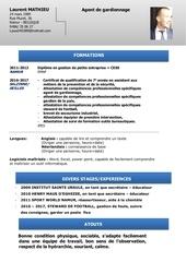 cv a jour gardiennage pdf 1
