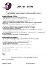 Fichier PDF charte athlete