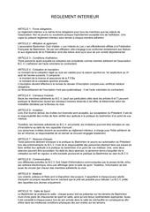 reglement interieur bcv 2017