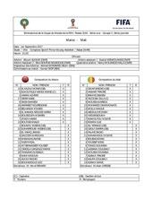 feuille de match maroc vs mali cdm 2018