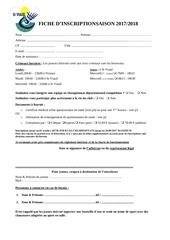 fiche inscription 2017 et reglement interieur