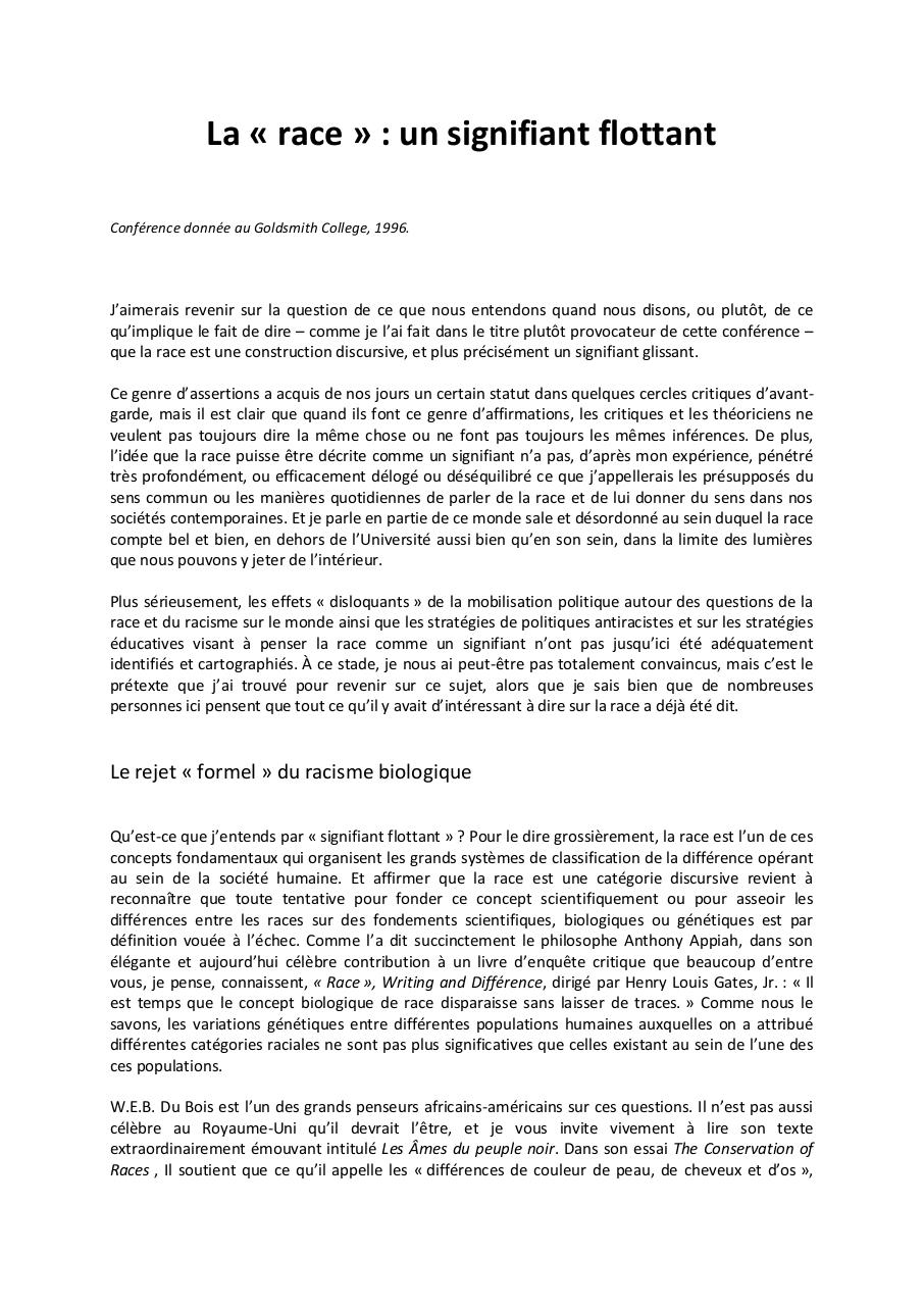 Aperçu du document Stuart Hall - Discursivité de la race.pdf - page 1/10