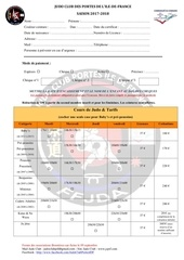 dossier inscription judo club saison 2017 2018