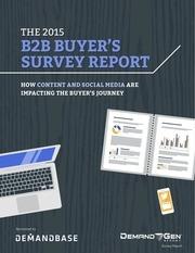b2b buyers survey