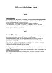 Fichier PDF reglement militaire raven sword