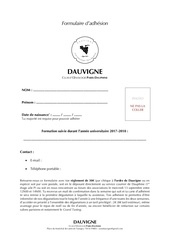 Fichier PDF formulaire d adhesion