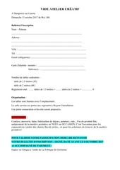 Fichier PDF inscription vide atelier