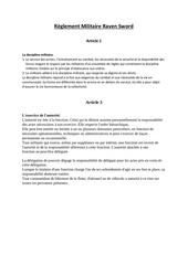 Fichier PDF reglement militaire raven swor