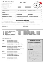 fiche d inscription 2017 tarif