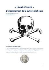 15 ans de mafia la culture mafieuse