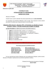 calendrier formation federale languedoc