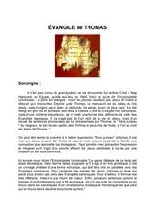 evangile de thomas 1