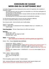 organisation concours cavage 2017