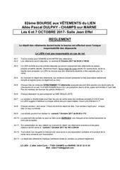 vetement reglement automne 2017