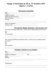 Fichier PDF dossier inscription amsterdam