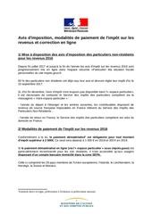 Fichier PDF avis d imposition et correction en ligne