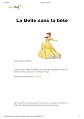 Fichier PDF la belle sans la bete disney