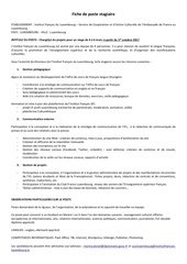 poste stagiaire institut francais du luxembourg