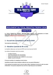 reglement du total freestyle trophy amateur fr 2018