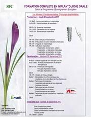 1er niveau formation en implantologie orale 2