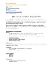 offres postes documentalistes et docs controllers