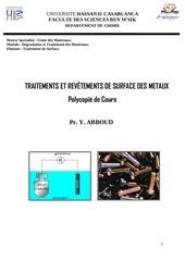 polycopie cours traitement de surface