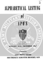 alphabetical listing of apo s