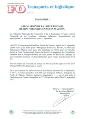 cdp abrogation loi el khomri retrait ordonnances macron