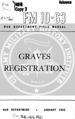 fm 10 63 graves registration 1945