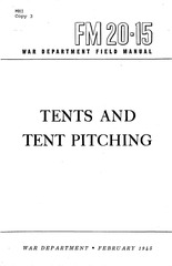 fm 20 15 tents and tent pitching 1945