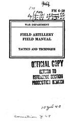 fm 6 20 tactics and technique 1941