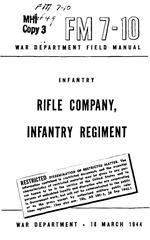 fm 7 10 rifle company infantry company 1944