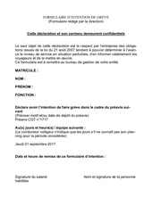 intention de greve 21 septembre 21017 1