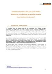 Fichier PDF tdr evaluacion projecto jjr ecuador vf 1