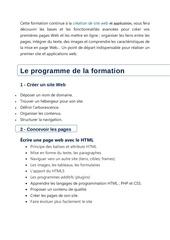 contenu de formation html et php sarex conseils