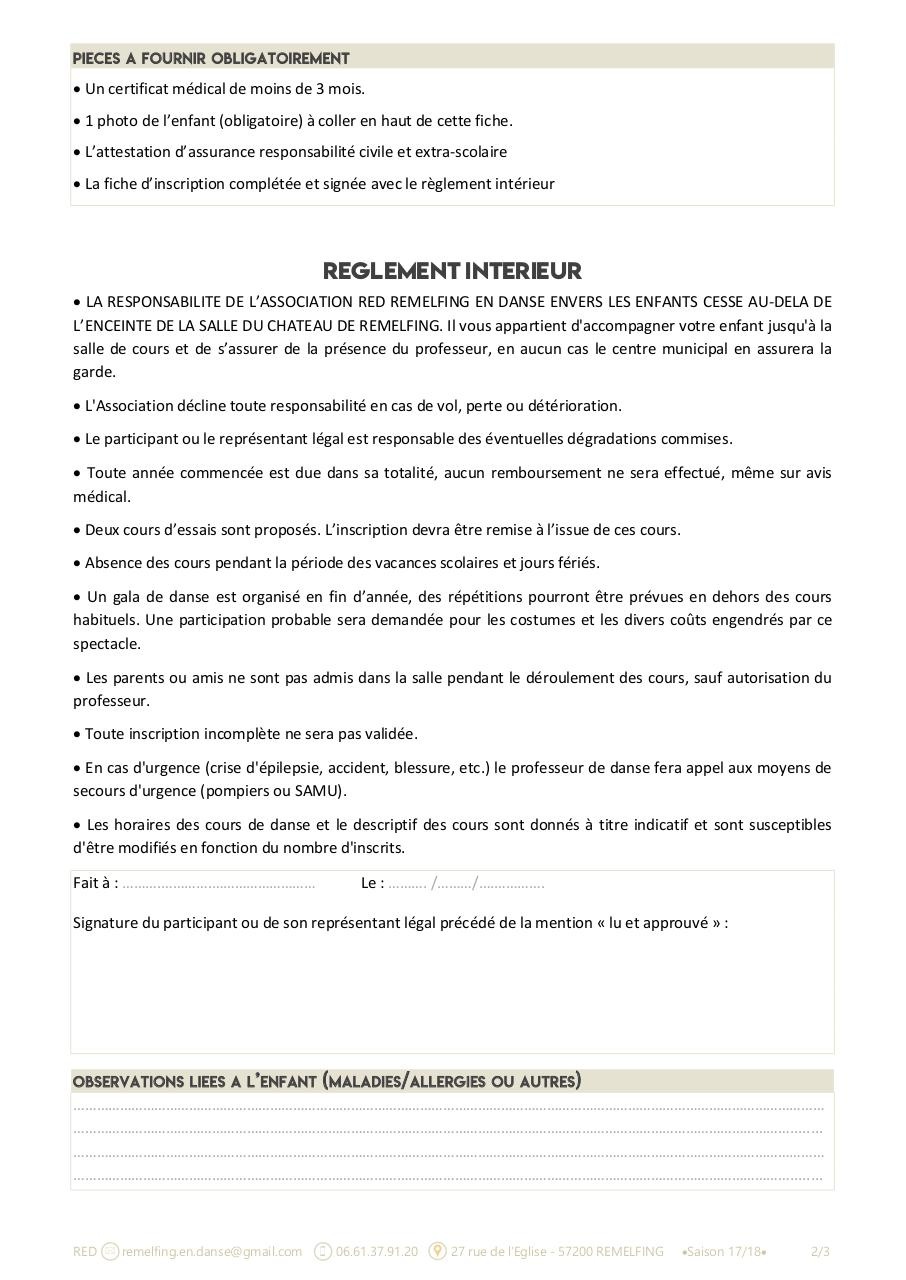 Aperçu du document FICHE INSCRIPTION + DECHARGE RED2017-2018.pdf - page 2/3