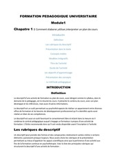 formation pedagogique universitaire