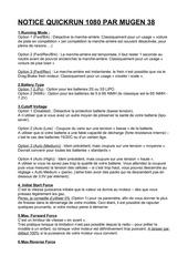 pdf reglage quickrun 1080