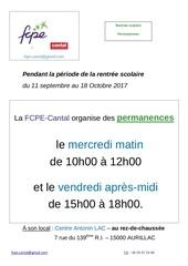 Fichier PDF permanences 18se17