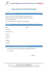 Fichier PDF bulletin d inscription equitation ethologique