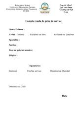 Fichier PDF prise de service